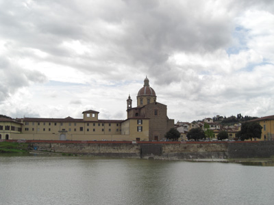 This is the mansion in Florence that we stayed in.  This picture is from across the river.
