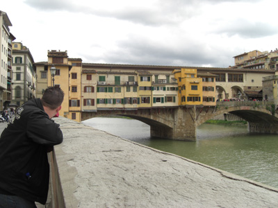 The Ponte Vecchio view from the river.